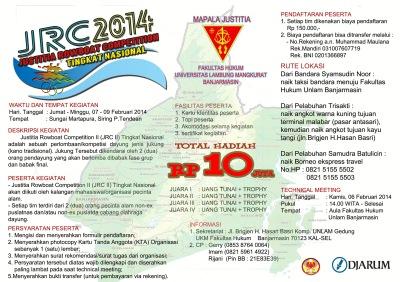 Brosur JRC II Tingkat Nasional 2014 Mapala Justitia