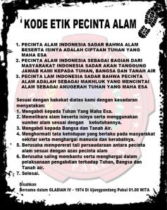 Kode Etik Pecinta Alam Indonesia