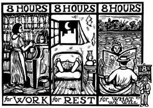 Ilustrasi : Pembagian waktu yang layak untuk pekerja/buruh